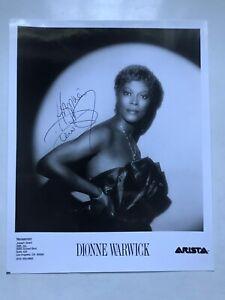 DIONNE WARWICK      8x10 photo AUTOGRAPHED  coa