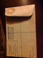 Vintage Unused Registered Letter Envelope Stamp