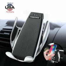 Automatic Sensor Wireless Car Charger Fast Charging Phone Holder Universal US