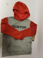 BOY'S Burton Boys Oak Pullover Hoodie GREY/RED M US 10/12