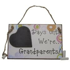 Days until we're Grandparents chalk board, gift, home decor LAST ONE