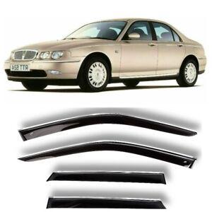 Chrome Trim Side Window Visors Guard Vent Deflectors For Rover 75 Sd 1999-2005