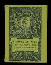 VENDITA ALL' ASTA 12-13-14-15-16 Giugno 1931 Antiquariato W. Toscanini Milano