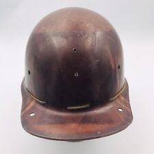 Vintage Msa Skullgard Brown Hard Hat Type B Fiberglass Canvasleather Interior