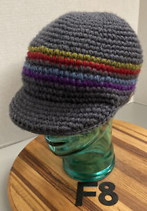 100% WOOL EVEREST DESIGNS WOMENS KNIT CADET/MILITARY STYLE HAT OSFM VGC F8