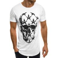 Men Fashion Tees Shirt Printed Loose Casual Tops Short Sleeve T Shirt Blouse