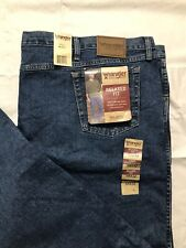Wrangler Rugged Wear Blue Jeans Mens 58x32 Relaxed Fit Over Boot Big & Tall  NWT