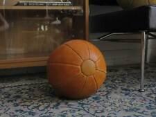 TRUE VINTAGE DDR MEDIZINBALL 70er Leder 3 kg GDR lether ball Taucha handgenäht