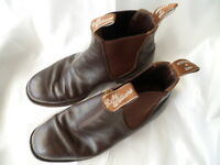 RM Williams mens Brown Leather Boots size 8 H Australian Made R M Williams