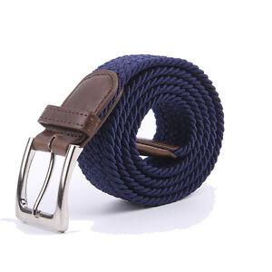Gelante Canvas Elastic Fabric Woven Stretch Braided Belts