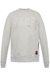 New Diesel X AC Milan Grey Crew Neck Sweatshirt Size S RRP £160