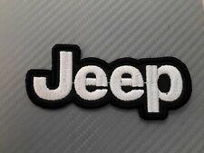 Patch JEEP logo fuoristrada cm 10x4,5 ricamo renegade wrangler compass