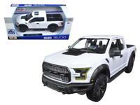 2017 Ford F150 Raptor Pickup Truck White 1:24 Diecast Model - Maisto 32166WH*