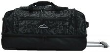 KOSCIUSZKO DUFFLE BAG WITH WHEELS 72CM - RRP $199 BLACK / GREY TRIBAL
