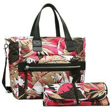 NWT MARC JACOBS PALM  PRINT BIKER BABY DIAPER BAG +CHANGING PAD + COSMETIC BAG