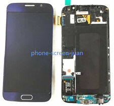 DISPLAY LCD TOUCH SCREEN Schermo Vetro FOR SAMSUNG GALAXY S6 G920F blue telaio