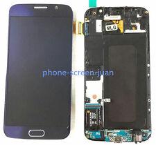DISPLAY LCD TOUCH SCREEN Schermo Vetro FOR SAMSUNG GALAXY S6 G920F blue telaio