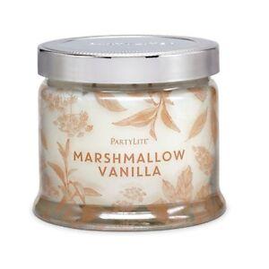 PARTYLITE MARSHMALLOW VANILLA 3-WICK NEW DECORATIVE JAR CANDLE W/LID 30% DISCOUN