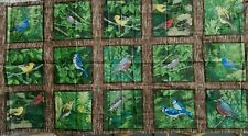 Nature's Song Fabric Panel Birds Flowers Last One OOP Quilt Shop Quality