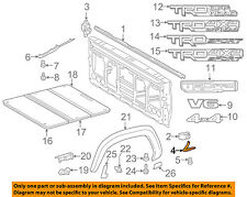 TOYOTA OEM 16-18 Tacoma Pick Up Box Bed-Front Molding Left 7564104040
