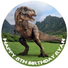 1 x Jurassic Park World 19cm round personalised cake edible image topper