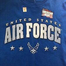 United States Air Force Men's Big & Tall 2XL Blue Short Sleeve Cotton T Shirt