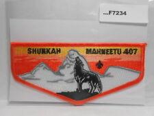 SHUNKAH MAHNEETU LODGE 407 ORANGE BORDER F7234
