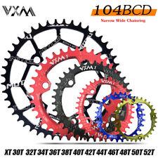 104bcd MTB Round Oval Narrow Wide Chainring 30/32/34/36/38/42T Bike Chainwheel
