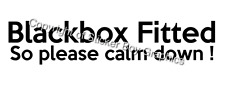 Blackbox Fitted Funny Car Sticker Decal Insurance Young driver  Black box 300mm