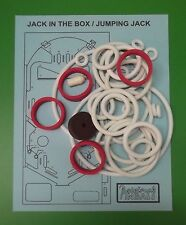 1973 Gottlieb Jack In The Box / Jumping Jack pinball rubber ring kit