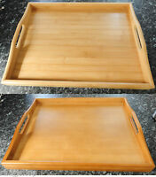 40CM*30CM NEW STYLISH WOODEN BREAKFAST SERVING BED TRAY WITH HANDELS