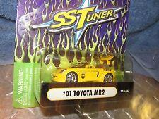 2001 01 TOYOTA MR2 muscle machine Import tuner funline 1/64 YELLOW STREET RACER