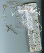 Rosary/Rosario/Austrian Crystal/CZ's/silverITALY/1128