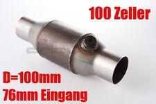 """3 """" / 76mm 100 Zeller con KAT metallico Catalizzatore Sportivo AUDI A3 S3 S2"""