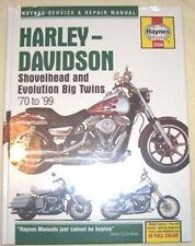 Haynes Manual HARLEY DAVIDSON Shovelhead & Evolution 1970 to 1999