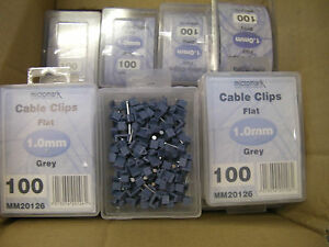 1900 -  1mm CABLE CLIPS FLAT GREY