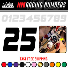 Racing Numbers Vinyl Decal Sticker Dirt Bike Plate Number Bmx Competition 0837