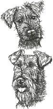 Irish Terrier Dog Breed Personalize Embroidered Fleece Stadium Blanket Gift