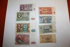 694  RUBLOS DE LENIN, 8 BILLETES DISTINTO VALOR RUSIA,  USADOS  BC 1961-91 Y 92