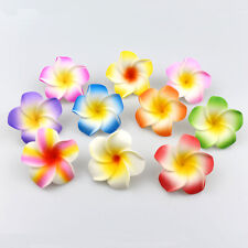 NEW 10PCS Plumeria flowers Hawaiian Foam Frangipani Flowers wedding 5cm 2""