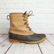 "Women's LL Bean 8"" GoreTex Thinsulate Duck Winter Snow Rain Boots Size 8 Vintage"