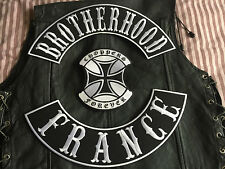 Brotherhood France Choppers Forever jeu complet MC HARLEY sans Blouson