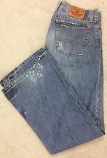 Lucky Brand Jeans Womens 10 W30 L31 Distressed Cotton Button Fly Boot Flare (Q8)