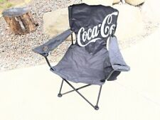 Coca Cola Camping, Beach, Lawn Folding Chair - Black - USED