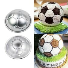 2Pcs Soccer Ball Aluminium Cake Cupcake Mold Pan Sport Decorating Jello Baking