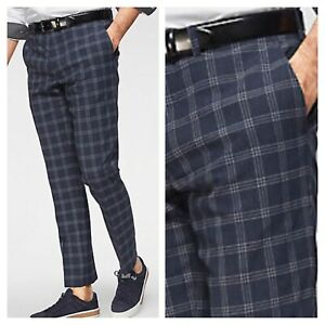 Guido Maria Kretschmer Size 36 W Checked Glen TROUSERS Ankle Length Slim Fit £71
