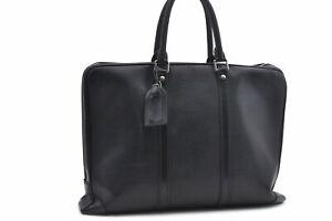 Auth Louis Vuitton Epi Porte Documents Voyage Black Briefcase M41142 LV 78150
