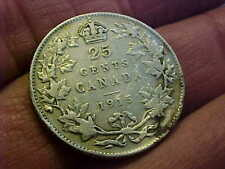 CANADA 1915 KEY DATE QUARTER CLEANED FINE ATTRACTIVE RARE COIN