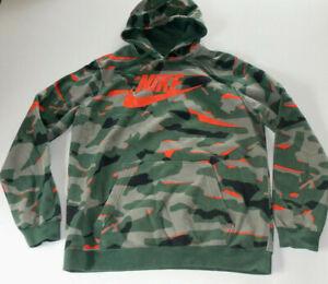 Nike Gr. L Herren Kapuzen Sweat-Shirt / Hoodie - camouflage / orange -