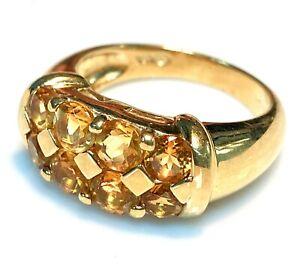 Ring Gold 18 Carat - Citrines 1.80 7.34 G
